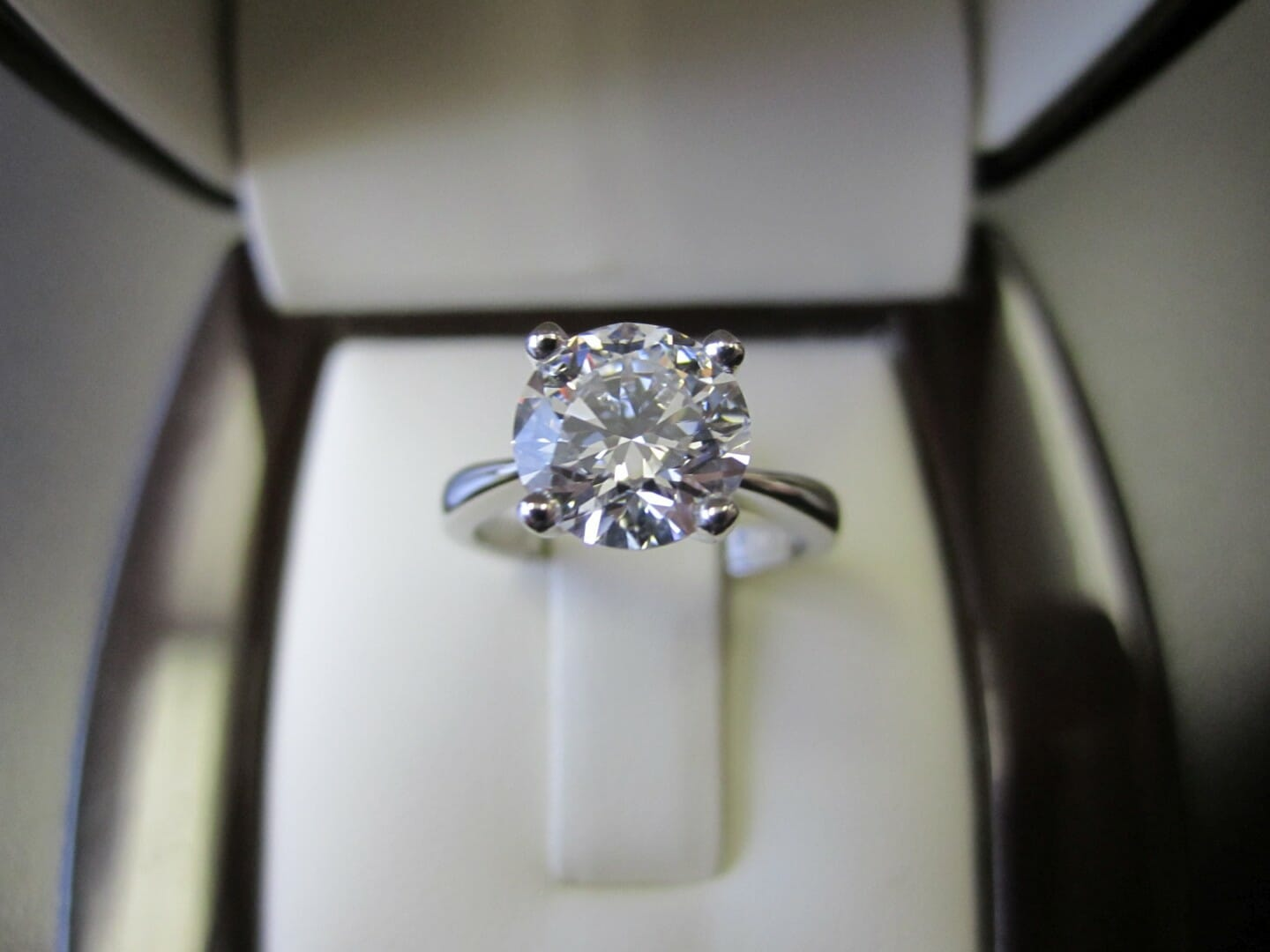 Picture of 1.88ct Round, D, Flawless Diamond in a Custom Platinum Solitaire Engagement Ring