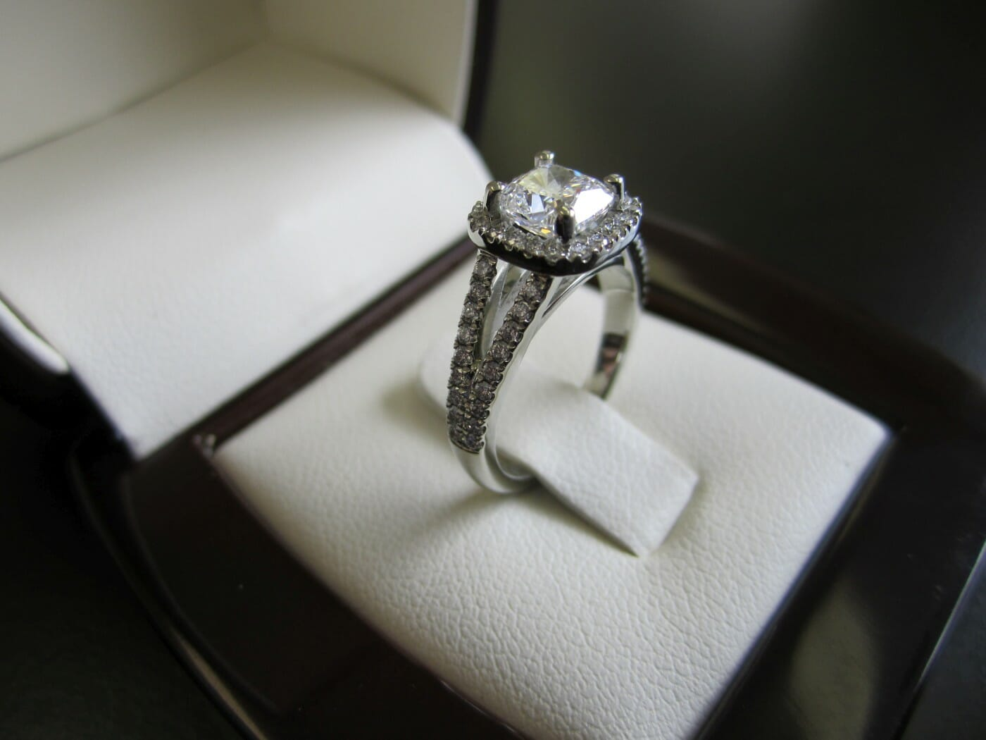 Picture of Custom Designed Split Shank & Halo Engagement Ring